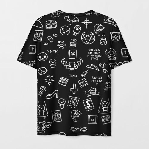 Мужская 3D футболка с принтом THE BINDING OF ISAAC | ЖЕРТВА, вид сзади #1