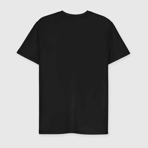 Мужская футболка премиум с принтом Розовая Лама, вид сзади #1