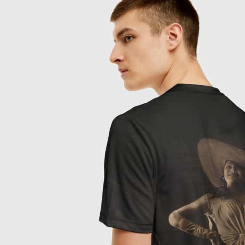Мужская 3D футболка с принтом RESIDENT EVIL VILLAGE, вид сзади #2