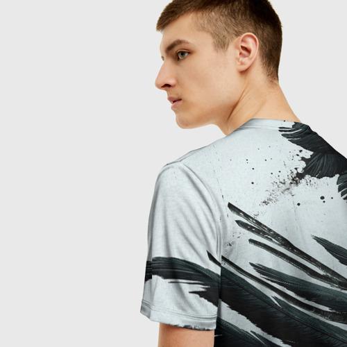 Мужская 3D футболка с принтом Resident Evil Village крылья, вид сзади #2