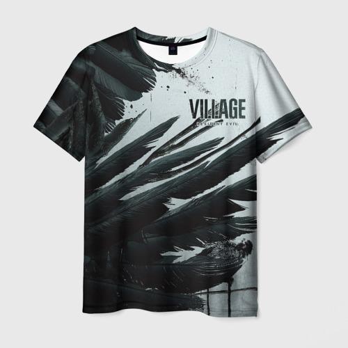 Мужская 3D футболка с принтом Resident Evil Village крылья, вид спереди #2