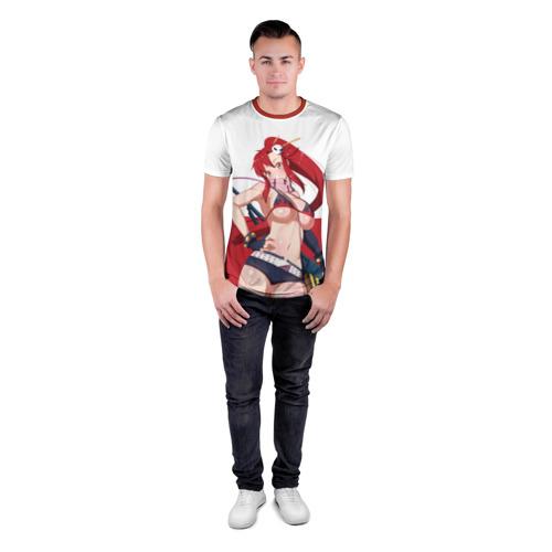 Мужская футболка 3D спортивная с принтом Yoko Littner, вид сбоку #3
