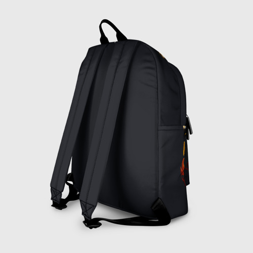 Рюкзак 3D с принтом GENSHIN IMPACT \ HU TAO, вид сзади #1