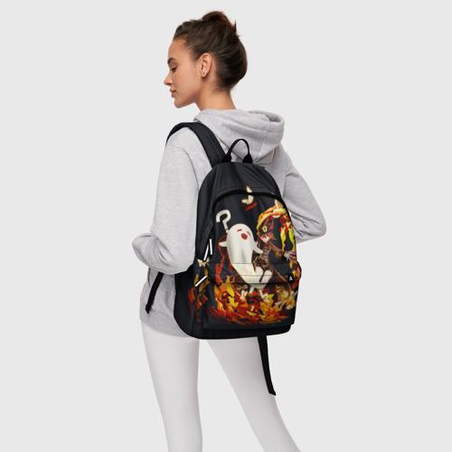 Рюкзак 3D с принтом GENSHIN IMPACT \ HU TAO, фото #4