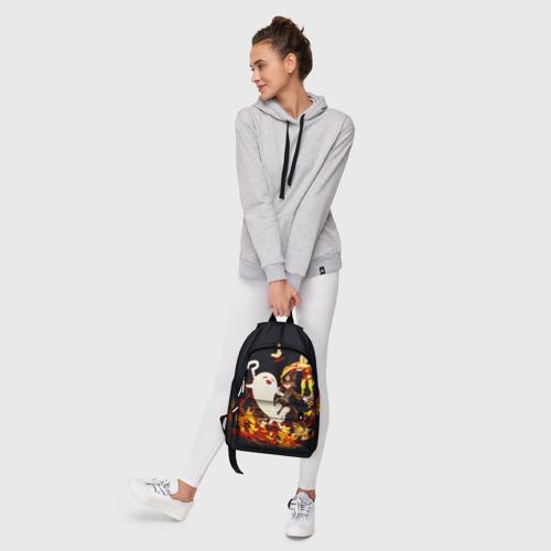 Рюкзак 3D с принтом GENSHIN IMPACT \ HU TAO, фото #6