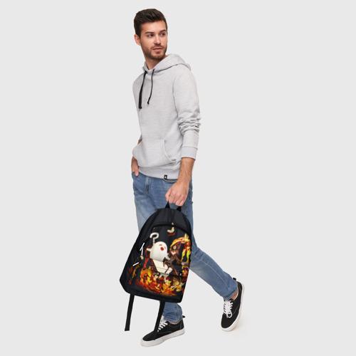 Рюкзак 3D с принтом GENSHIN IMPACT \ HU TAO, фото #5
