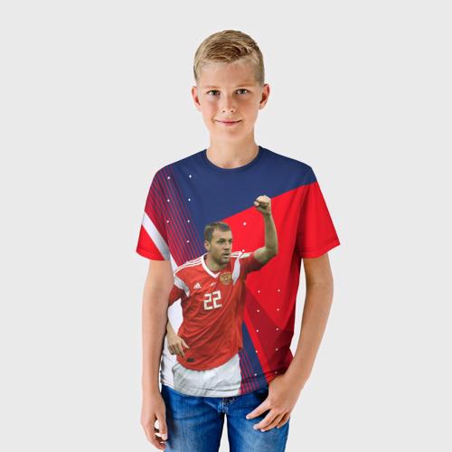 Детская 3D футболка с принтом Дзюба, фото на моделе #1