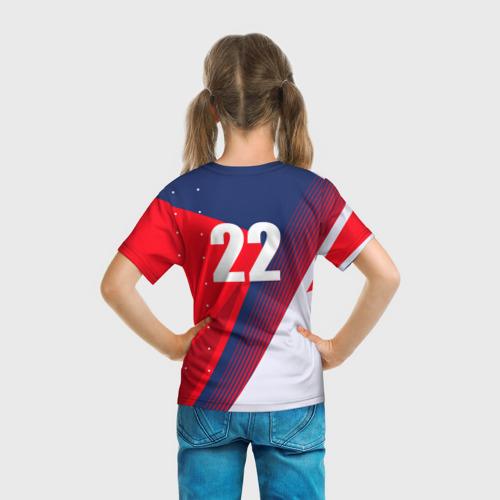 Детская 3D футболка с принтом Дзюба, вид сзади #2