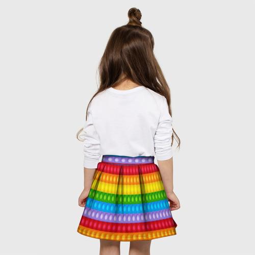 Детская юбка-солнце 3D с принтом Pop It, вид сзади #2