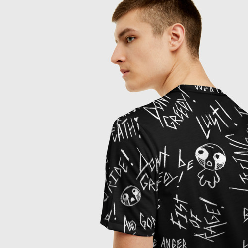 Мужская 3D футболка с принтом The Binding of Isaac; Dogma, вид сзади #2