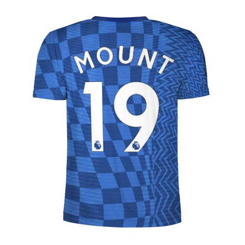 Мужская футболка 3D спортивная с принтом Маунт Челси форма 2021/2022, вид сзади #1