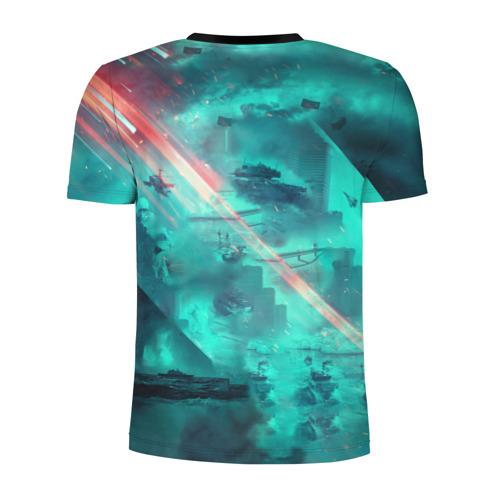 Мужская футболка 3D спортивная с принтом Баттлфилд 2042, вид сзади #1