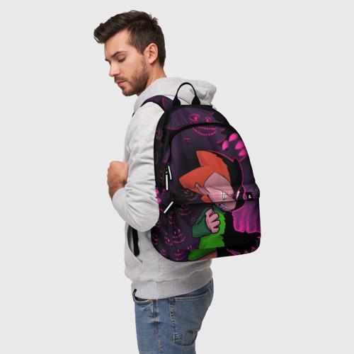 Рюкзак 3D с принтом Friday Night Funkin   FNF, фото на моделе #1