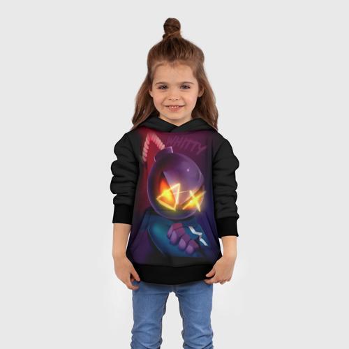Детская 3D толстовка с принтом Витти на темном фоне, вид сбоку #3