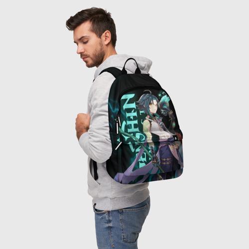 Рюкзак 3D с принтом XIAO, фото на моделе #1