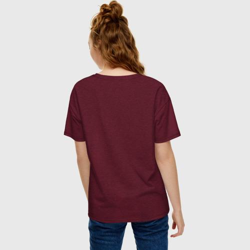 Женская футболка oversize с принтом David Damiano, вид сзади #2