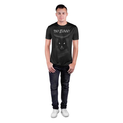 Мужская футболка 3D спортивная с принтом Зайчик ужасы, вид сбоку #3