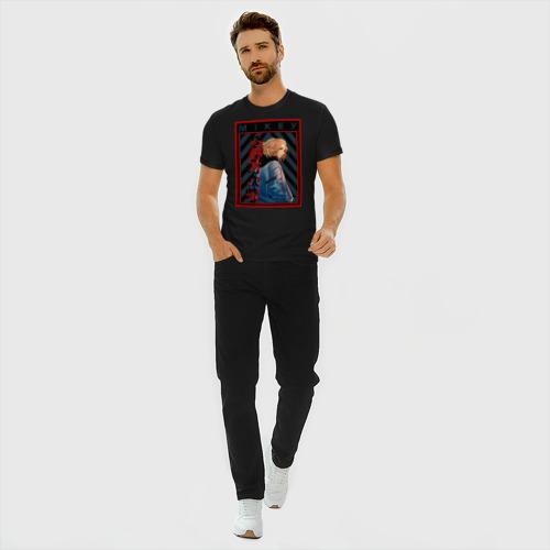 Мужская футболка премиум с принтом Майки Токийские Мстители Микки, вид сбоку #3