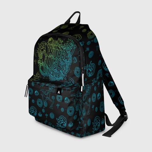 Рюкзак 3D с принтом Wubba Lubba dub (рюкзак), вид спереди #2