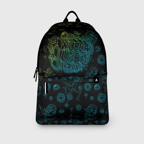 Рюкзак 3D с принтом Wubba Lubba dub (рюкзак), вид сбоку #3