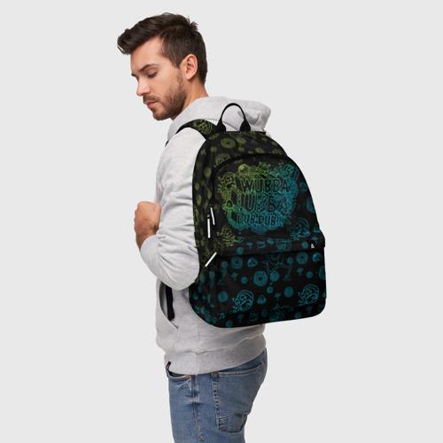 Рюкзак 3D с принтом Wubba Lubba dub (рюкзак), фото на моделе #1