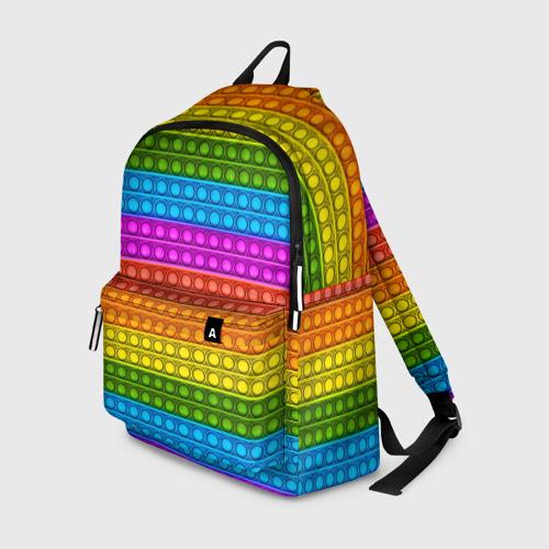 Рюкзак 3D с принтом POP it ИГРУШКА АНТИСТРЕСС, вид спереди #2