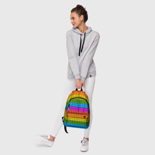 Рюкзак 3D с принтом POP it ИГРУШКА АНТИСТРЕСС, фото #6
