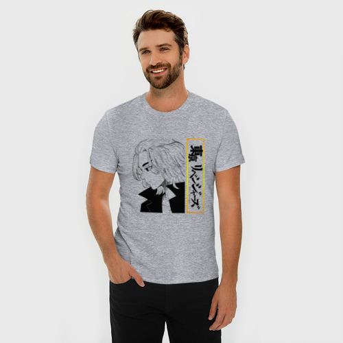 Мужская футболка премиум с принтом МАНДЗИРО САНО | MIKEY (Z), фото на моделе #1
