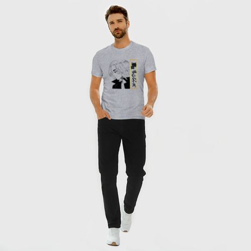 Мужская футболка премиум с принтом МАНДЗИРО САНО | MIKEY (Z), вид сбоку #3
