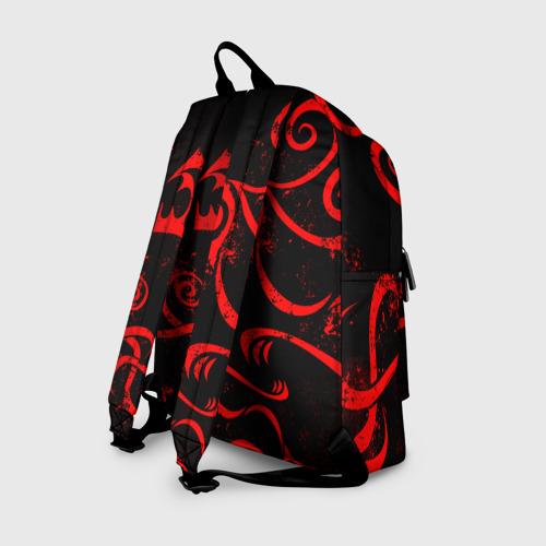 Рюкзак 3D с принтом ТАТУИРОВКА ДРАКЕНА, вид сзади #1