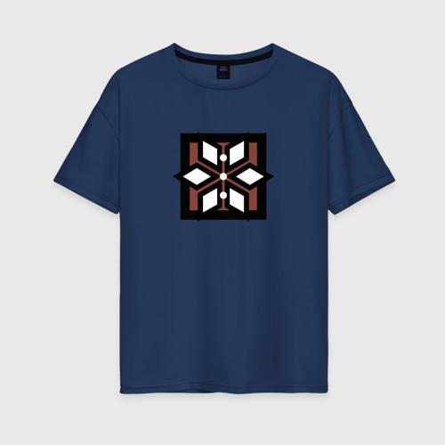 Женская футболка oversize с принтом RAINBOW SIX SIEGE Thunderbird, вид спереди #2