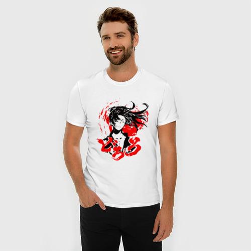Мужская футболка премиум с принтом ДОРОРО / DORORO / АНИМЕ, фото на моделе #1