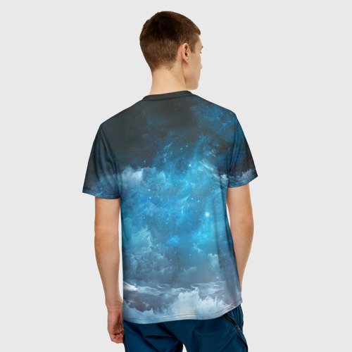 Мужская 3D футболка с принтом Volvo truck, вид сзади #2