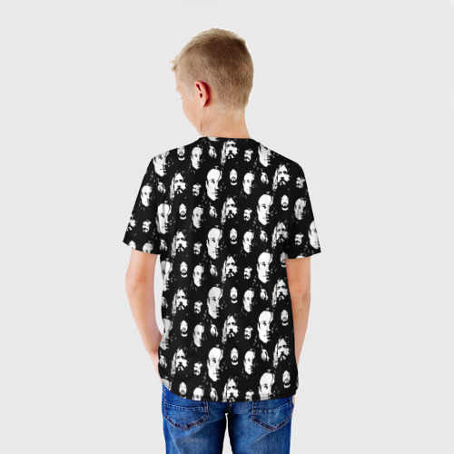 Детская 3D футболка с принтом Гроб паттерн, вид сзади #2