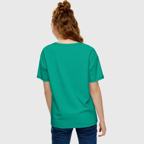 Женская футболка oversize с принтом Смотрю за тобой, вид сзади #2