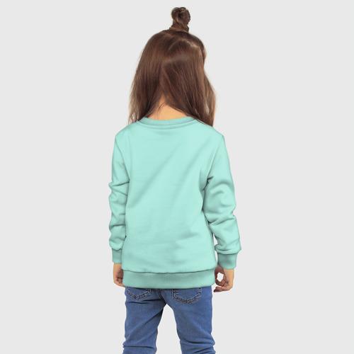 Детский свитшот хлопок с принтом Акула балерина, вид сзади #2