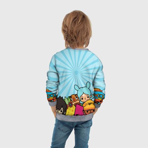 Детский 3D свитшот с принтом Toca boca life, вид сзади #2