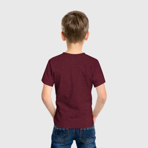 Детская футболка с принтом Испуганный тигренок, вид сзади #2