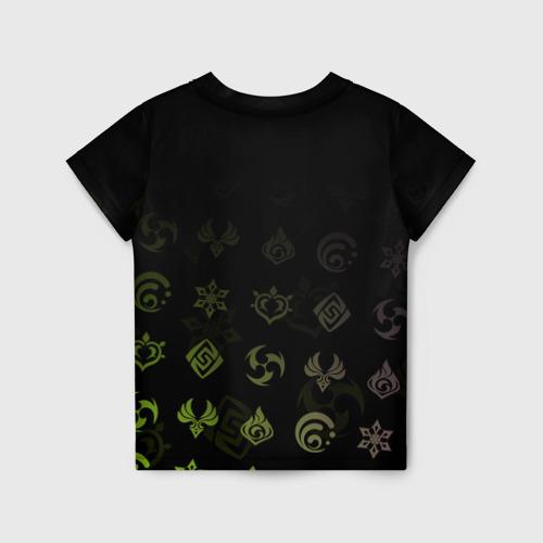 Детская 3D футболка с принтом Саю / Genshin Impact, вид сзади #1