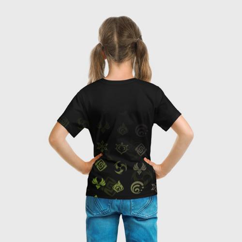 Детская 3D футболка с принтом Саю / Genshin Impact, вид сзади #2