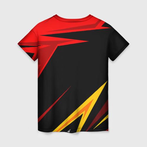 Женская 3D футболка с принтом Уникальные линии, вид сзади #1