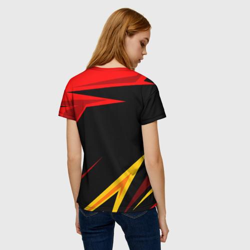 Женская 3D футболка с принтом Уникальные линии, вид сзади #2