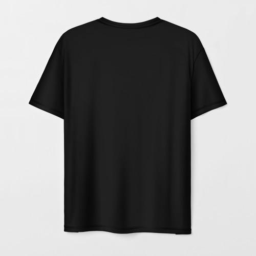Мужская 3D футболка с принтом Атом, вид сзади #1