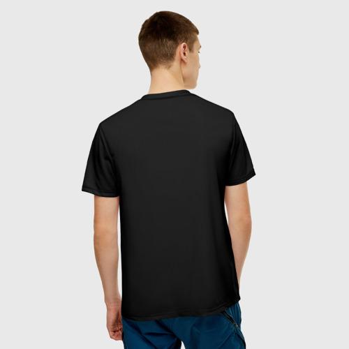 Мужская 3D футболка с принтом Атом, вид сзади #2