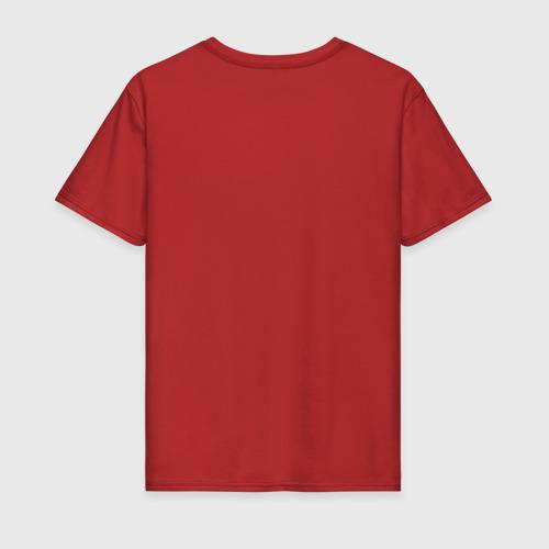 Мужская футболка с принтом Алый Король, вид сзади #1