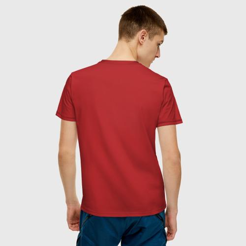 Мужская футболка с принтом Алый Король, вид сзади #2