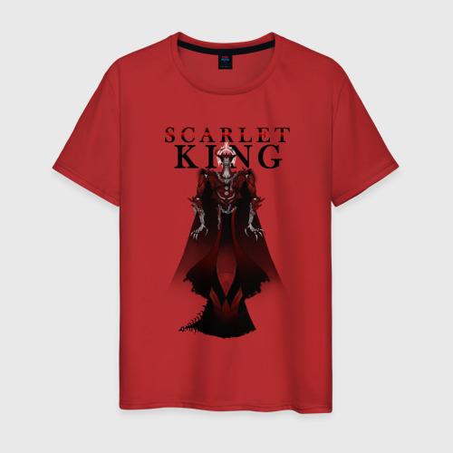 Мужская футболка с принтом Алый Король, вид спереди #2