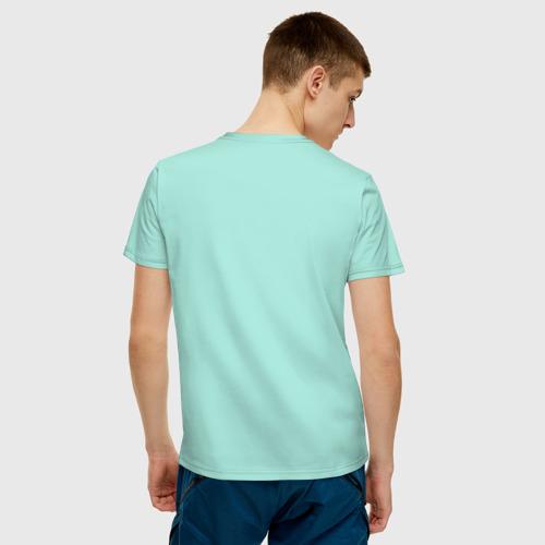 Мужская футболка с принтом Eat Sleep Marketing Repeat, вид сзади #2